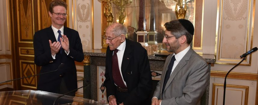 Georges Loinger – Remise de la croix de l'Ordre National du Mérite de la République Fédérale d'Allemagne