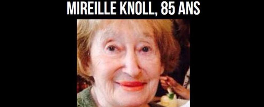 Marche blanche pour Madame Mireille Knoll, mercredi 28 mars à 18h30 à Paris