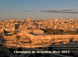 Chroniques de Jérusalem – Hiver 2015